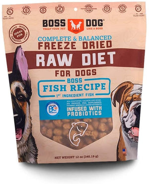 Boss Dog Complete & Balanced Fish Recipe Freeze Dried Dog Food