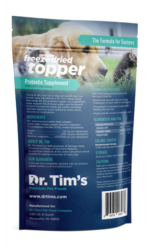 Dr. Tim's Freeze Dried Elk Probiotic Pet Supplement