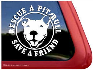 Nicker Sticker Rescue A Pit Bull - Save A Friend
