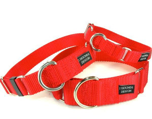 "5/8"" Wide Solid Color Buckle Martingale Collar"