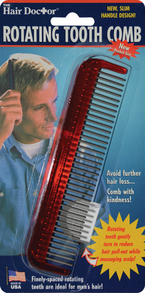 The Hair Doctor Rotating Tooth Comb 5 Inch
