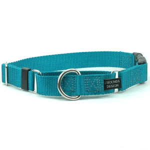 "1.5"" Wide Solid Color Buckle Martingale Collar"