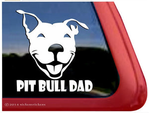 Nicker Sticker Pit Bull Dad