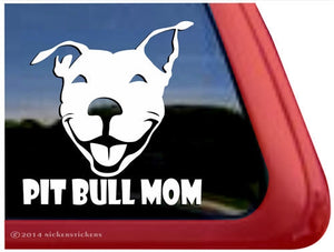 Nicker Sticker Pit Bull Mom