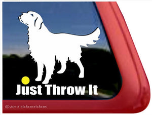 Nicker Sticker Golden Retriever - Just Throw It