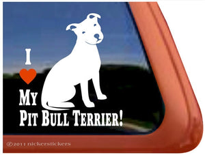 Nicker Sticker I Love My Pit Bull