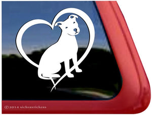 Nicker Sticker Love Pit Bull Terrier