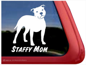 Nicker Sticker Staffy Mom