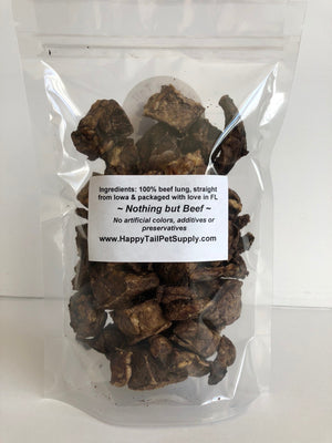 Happy Tail's 100% Beef Lung Cubes