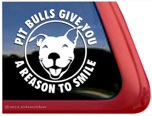 Nicker Sticker Pit Bulls Give You A Reason to Smile