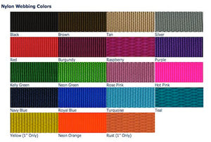 "1.5"" Wide Solid Color Martingale Collar"
