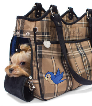 Pet Flys Bon Ami Plaid Monkey