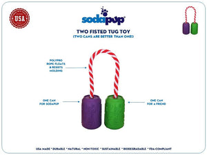 SodaPup Two Fisted Tug Toy