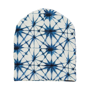 kids organic cotton beanie with ice crystal print