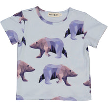 organic cotton short sleeved t-shirt with icebear print