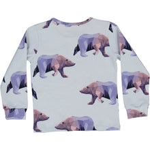 long sleeved, organic cotton kids t-shirt with icebear print