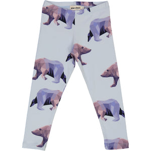 kids organic cotton leggings with icebear print