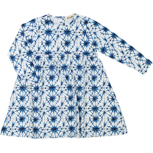 organic cotton kids dress with ice crystal print