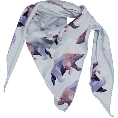 kids scarf with icebear print
