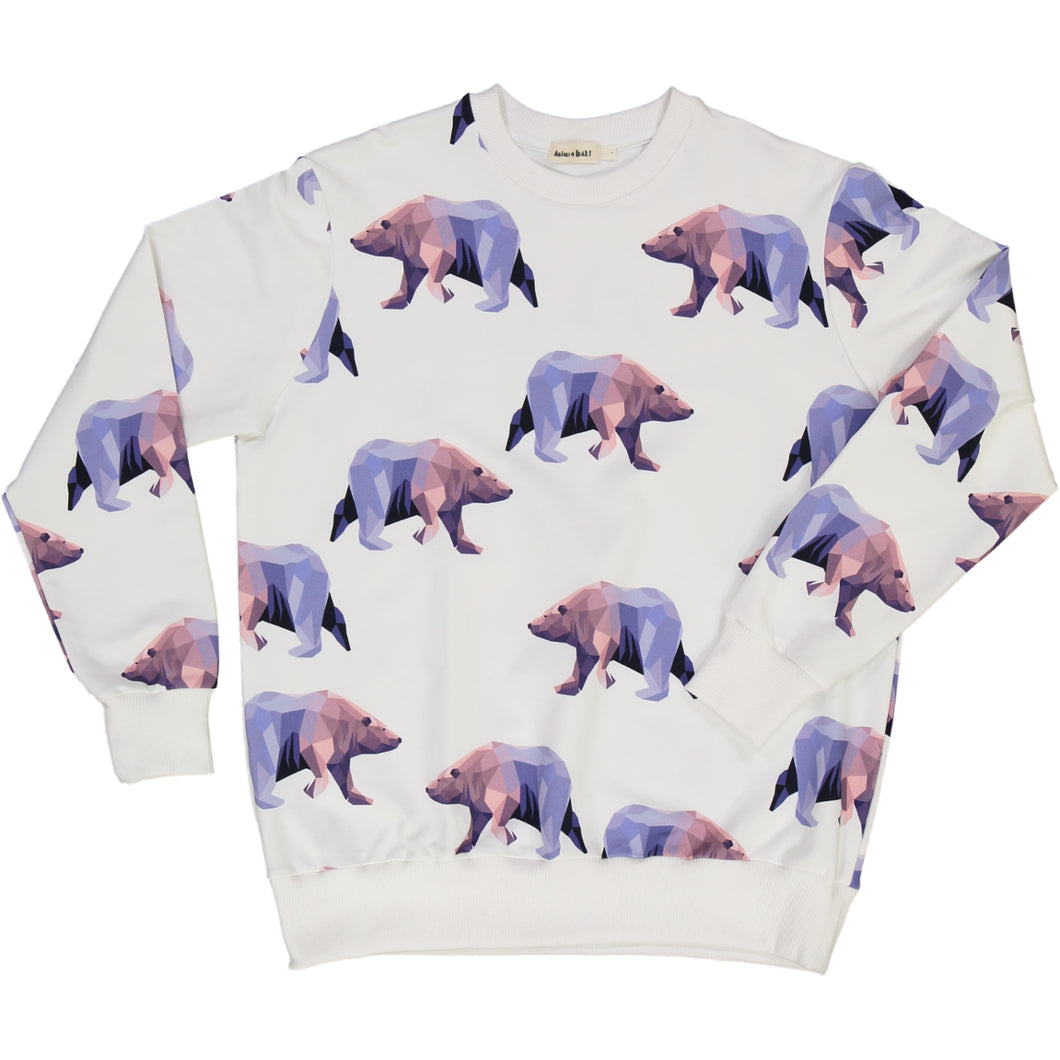 organic cotton adult sweater with icebear print