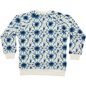 organic cotton kids sweater with ice crystal  print