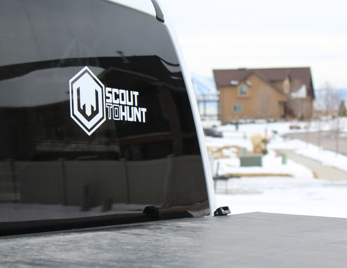 Scout To Hunt Bold Logo Decal