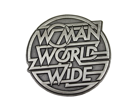 WOMAN WORLD WIDE BADGE