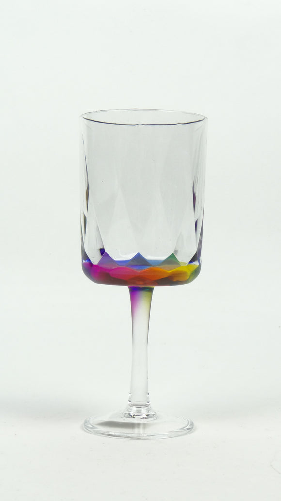 14 oz. Rainbow Prism Wine Glass