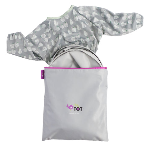 Tidy Tot Bib & Tray Kit in Dove Grey
