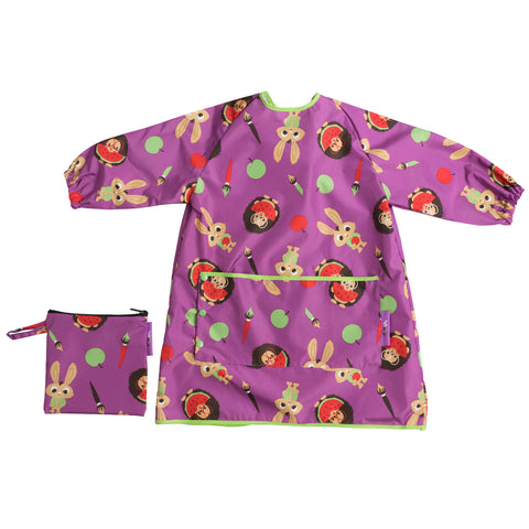 Tidy Tot Long Length Coverall Bib in Plum