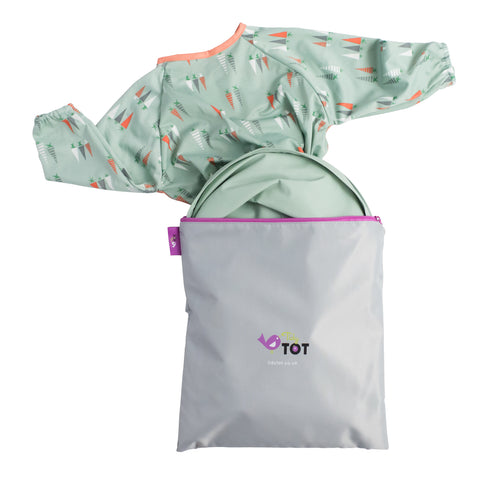 Tidy Tot Bib & Tray Kit in Sage Green