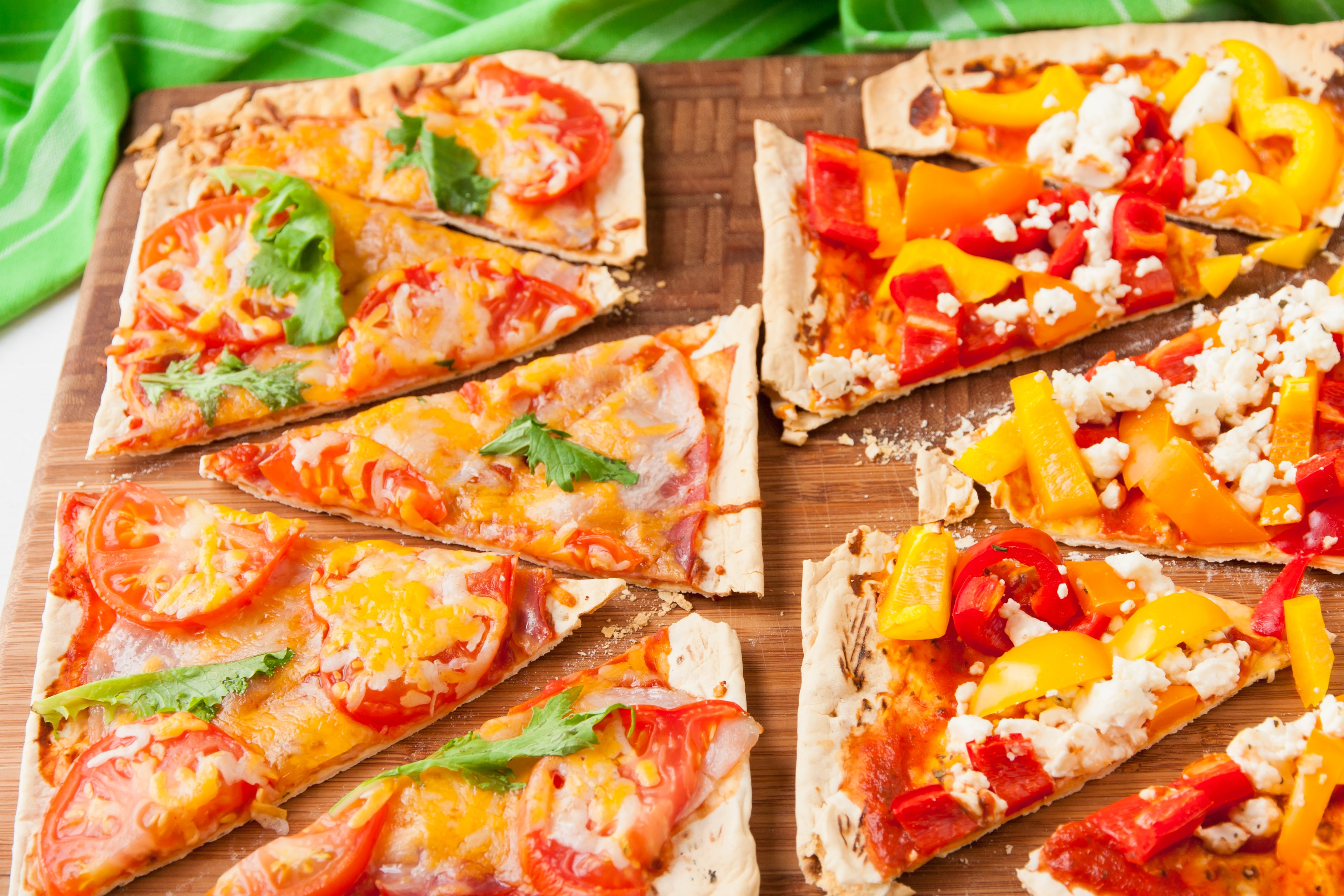 Colorful Mediterranean Flat Bread