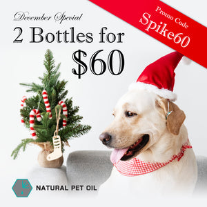 December Special! Get 2 bottles of Natural Pet Oil for only $60