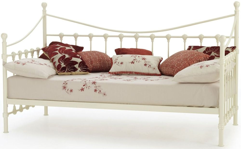 Marseilles Ivory Gloss Metal Day Bed