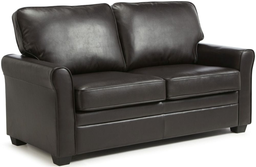 Naples Black Bonded Leather Sofa Bed