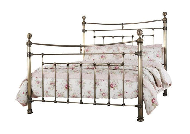 Precious Edmond Antique Brass Metal Bed