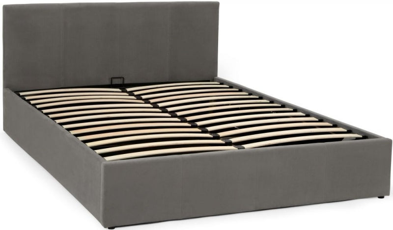 Evelyn Steel Fabric Ottoman Bed