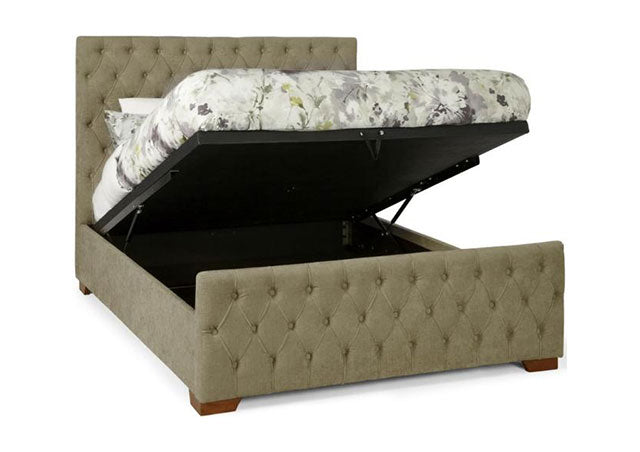 Lillian Fudge Fabric Ottoman Bed