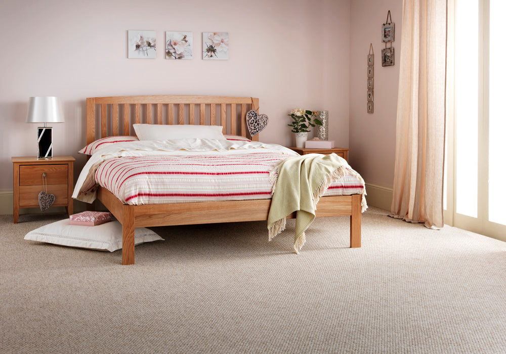 Sussex Oak Low Foot End Bed Single Double King Size And Super King Size