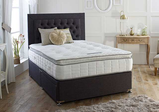 Calgary 1000 Pocket Pillow Top Mattress Divan Bed Set