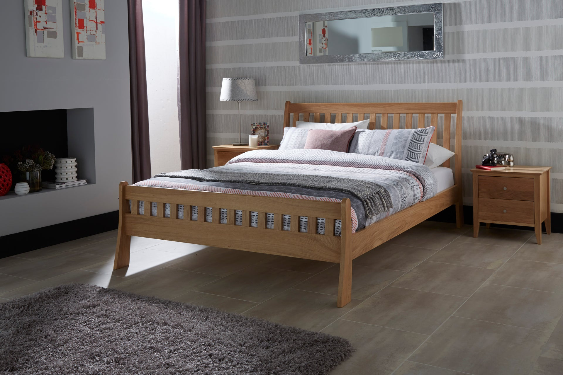 Colchester Solid Oak Bed Double King Size And Super King Size