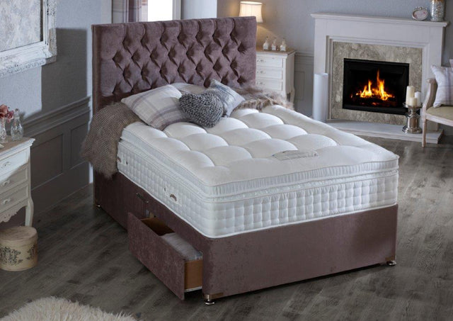 Natural 6000 Sapphire Divan Bed 34cm deep Medium Medium Firm Or Firm Comfort European Sizes Are Available