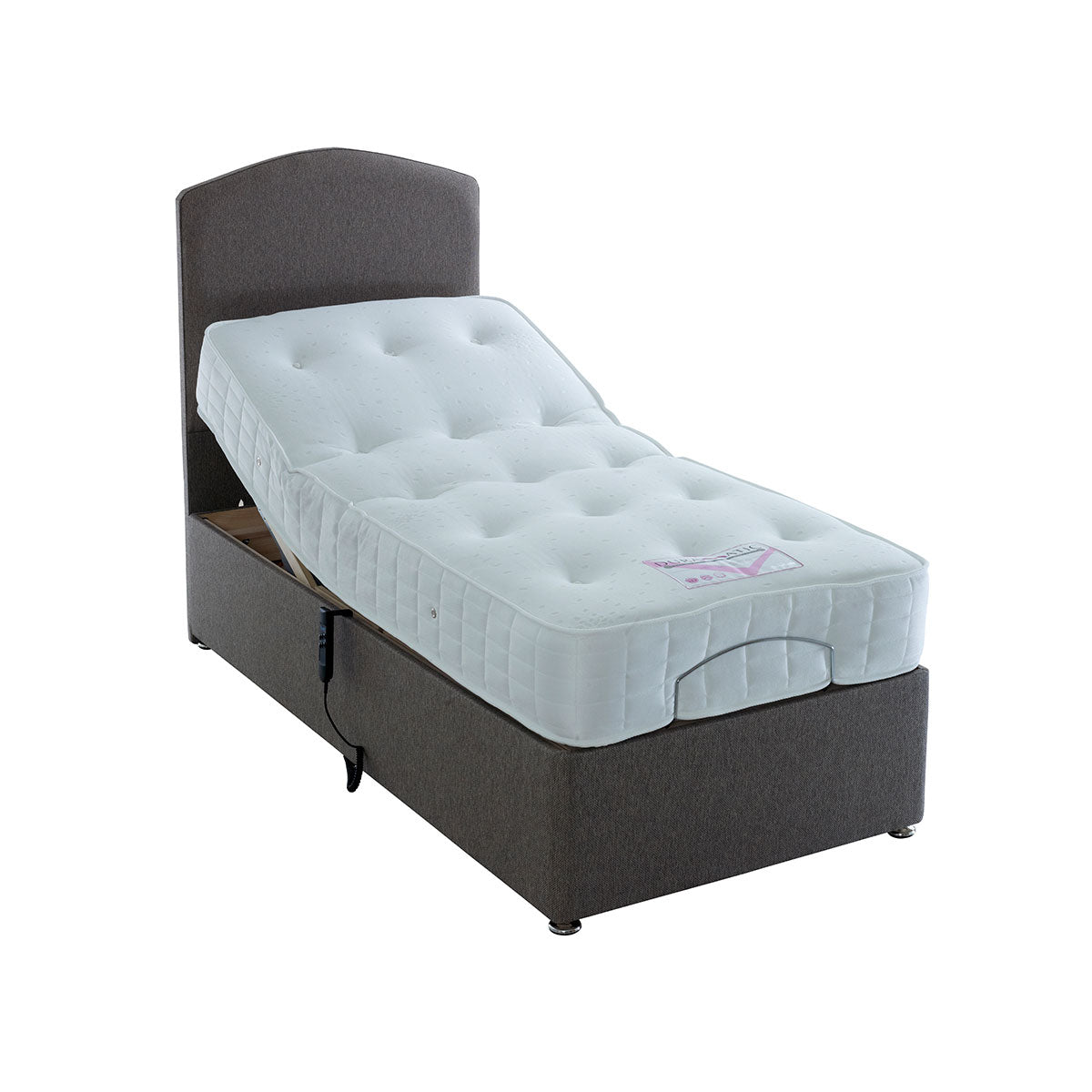 Duramatic 1000 Pocket Sprung Electric Divan Bed (Mattress = Medium Firm)