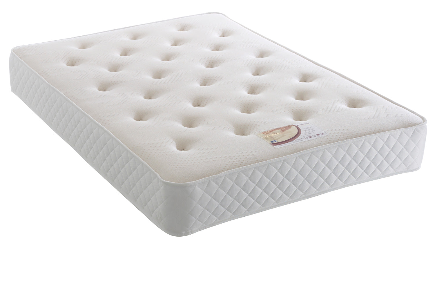 Elastacoil Divan Set (Mattress = Medium firmness, Depth 27 cm)