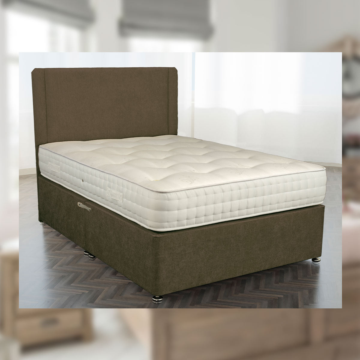 Landmark 6000 Pocket Spring Mattress Natural Luxury Fillings Available In Medium Medium Firm And Firm