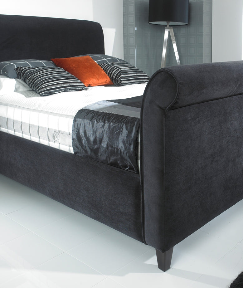 Lavish Alexandria Bed Frame | Shown In Charcoal Chenille Fabric