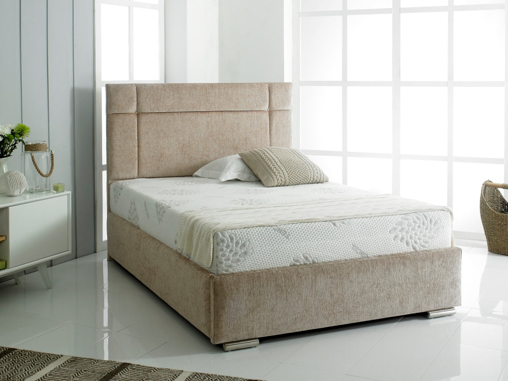 Lavish Florence Fabric Bed Frame | Shown In Chenille Fabric
