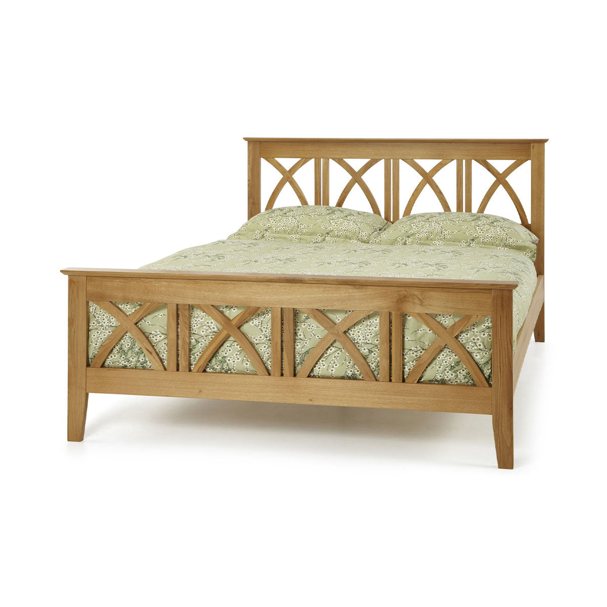 Maiden Solid Oak Bed Double King Size And Super King Size