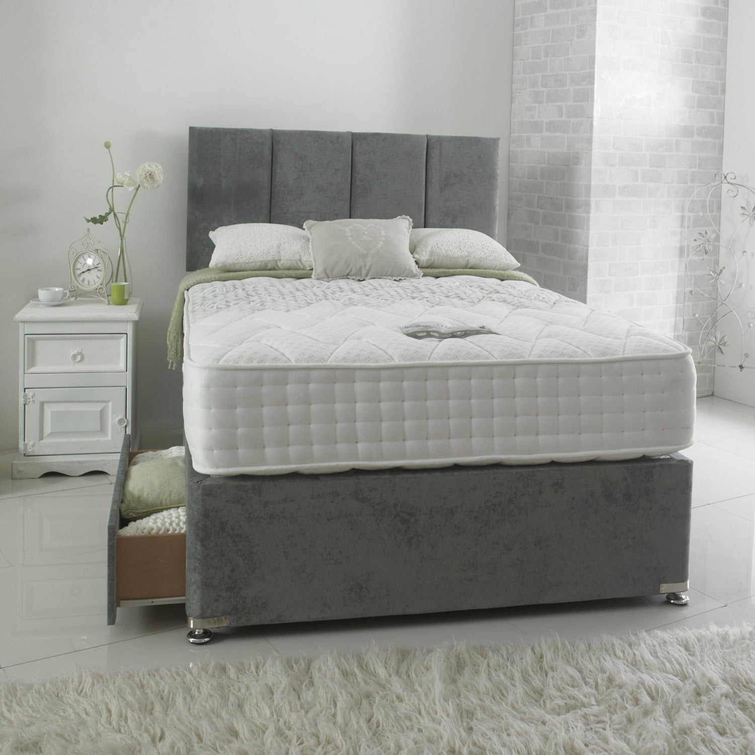 Nimbus 1000 Luxury Divan Set (Mattress = Medium)