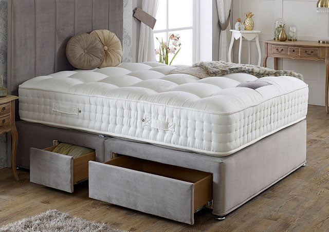 Royal Crown Natural 3000 Divan Bed Set - Medium Firm Mattress 34cm Depth